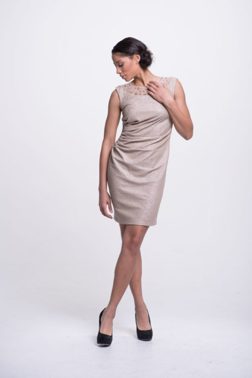 champagne sheath dress