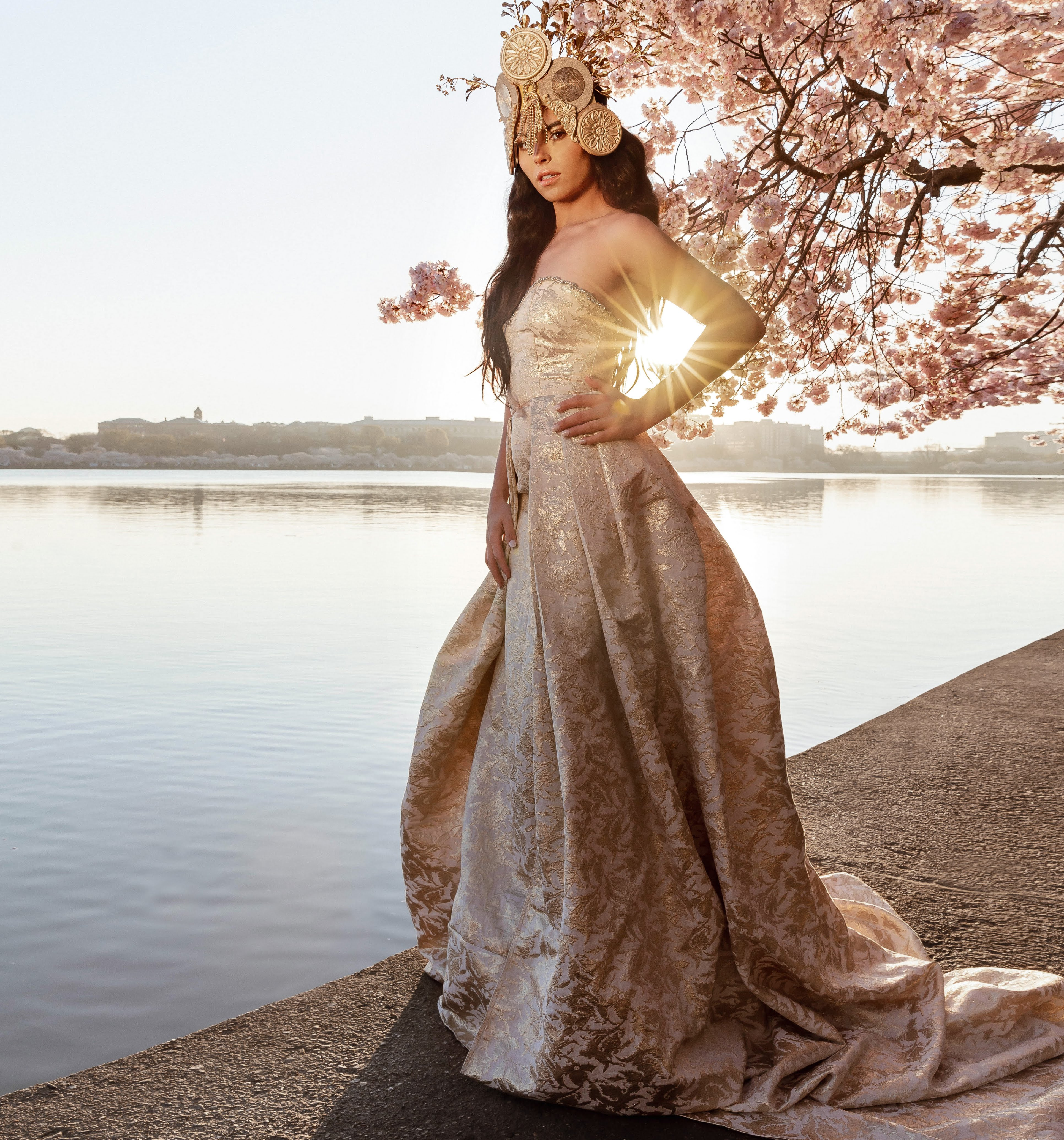Wedding Gowns Dc: Beauty Of Blossoms: Our Couture Sunrise Cherry Blossom