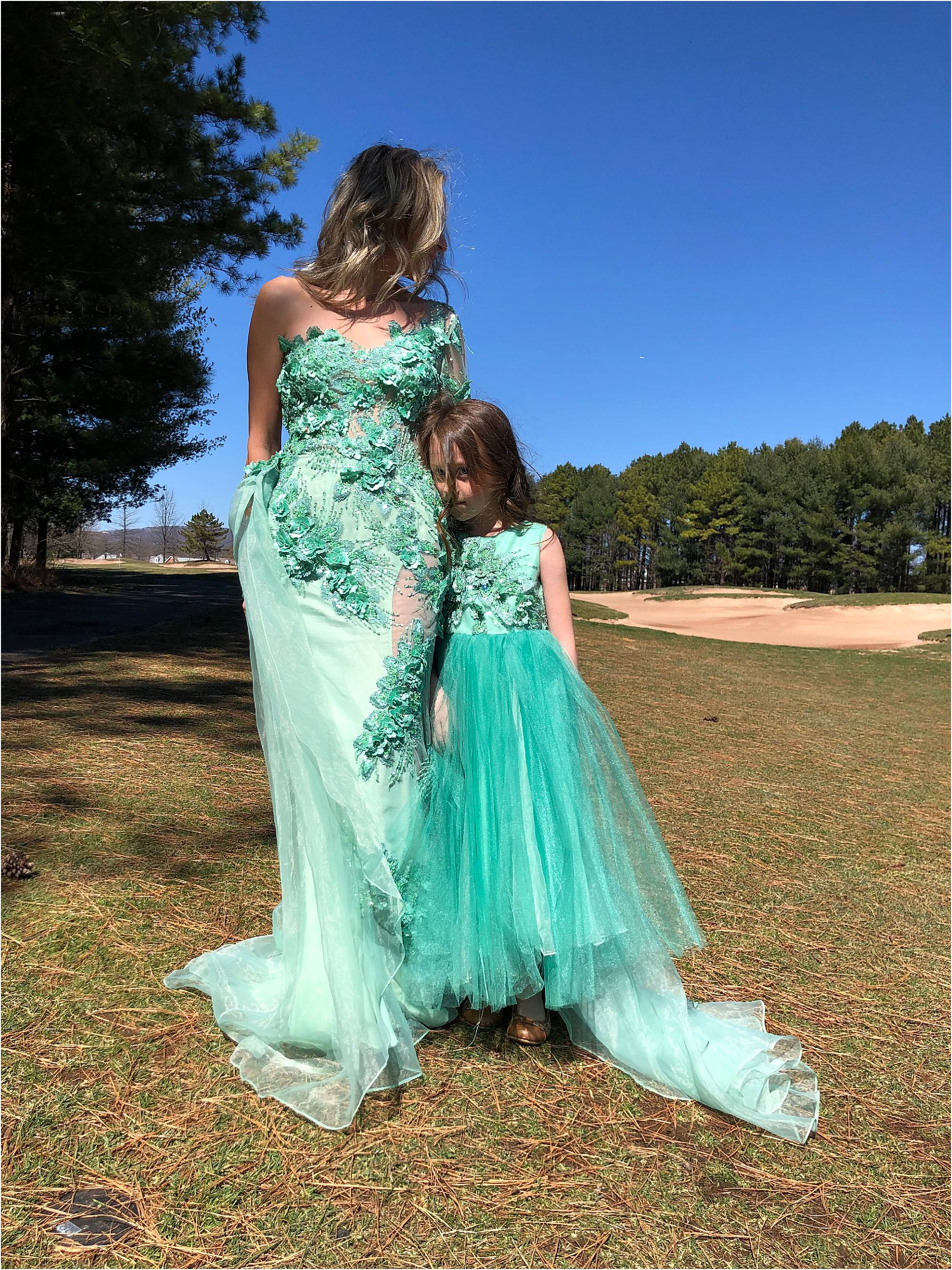 Didomenico Design Custom Mother Daughter Dresses L Mother Daughter Outfit Photos L Didomenico Design L Kelsy Dominick Mother Daughter Fashion Photo 0006 Didomenico Design,Middle Aged Outdoor Wedding Summer Wedding Guest Dresses